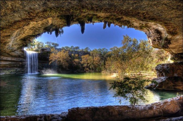 Озеро Гамильтон в Техасе (15 фото)