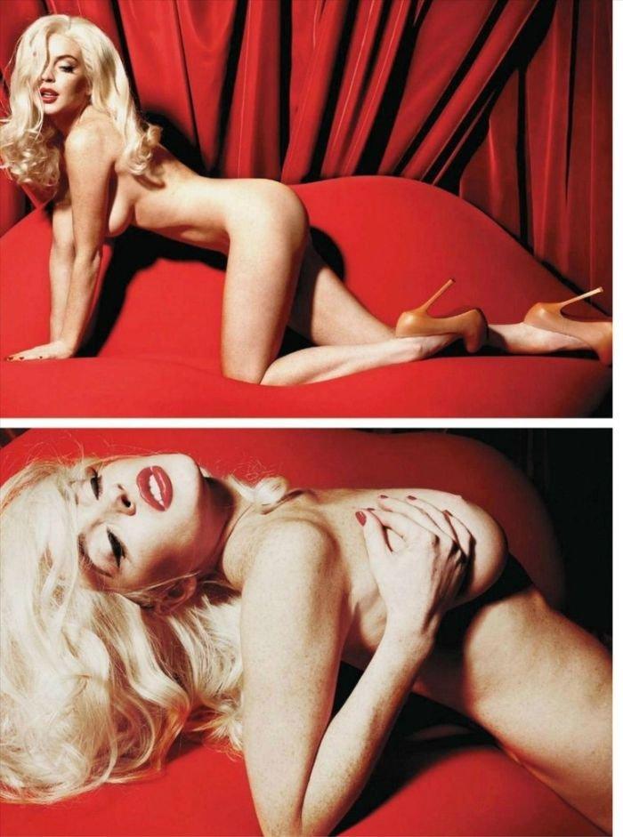 Линдсей Лохан в Playboy (8 фото)
