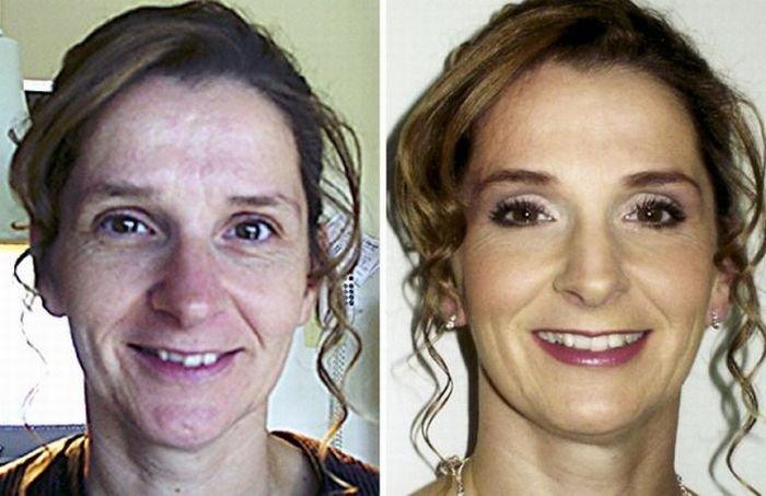 До и после макияжа (29 фото)