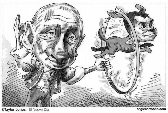 Западные карикатуры на выборы в России (20 фото)