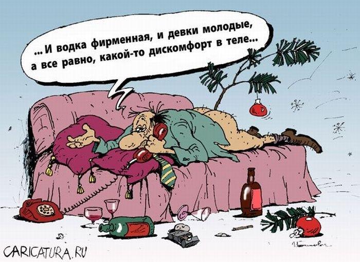 Карикатуры к Новому Году (26 фото)