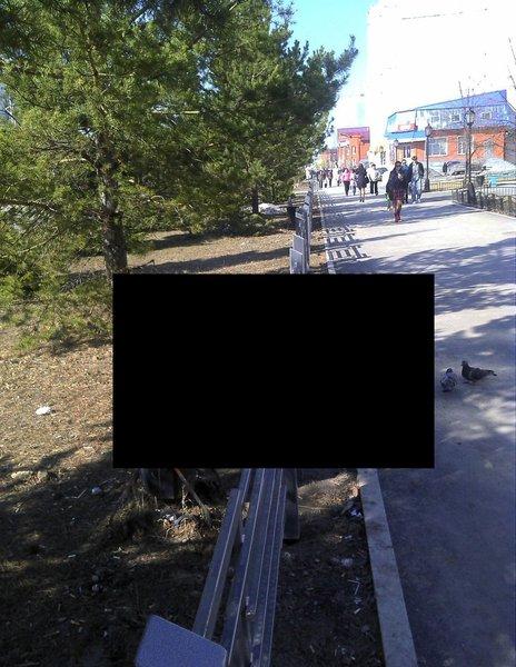 Лавочка в Тобольске (3 фото)