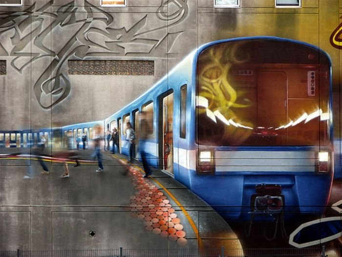 Красивые граффити на стенах домов (15 фото)