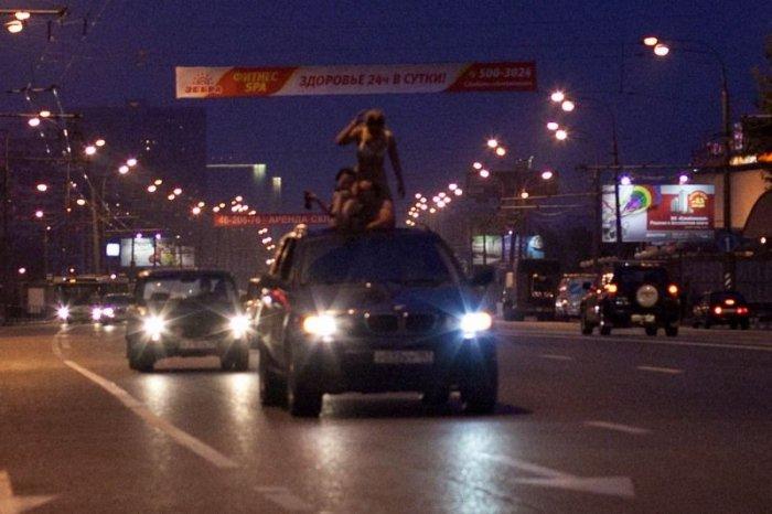 Катание по ночной Москве (5 фото)