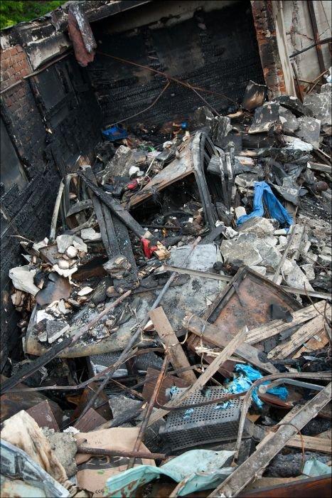 Взрыв гаража в Москве (18 фото)
