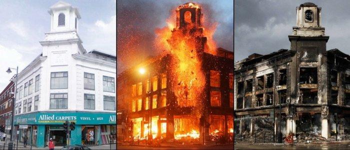 Погромы в Лондоне. До и после (6 фото)
