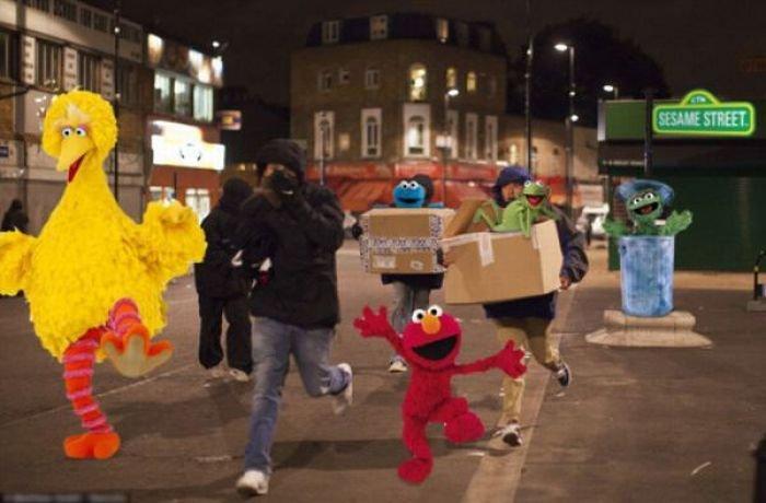 Фотожабы на лондонских погромщиков (46 фото)