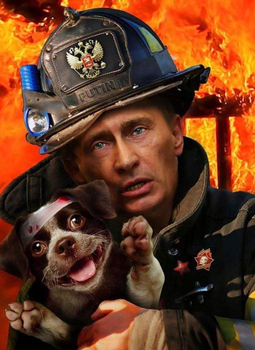 Фотожабы на Путина (21 фото)