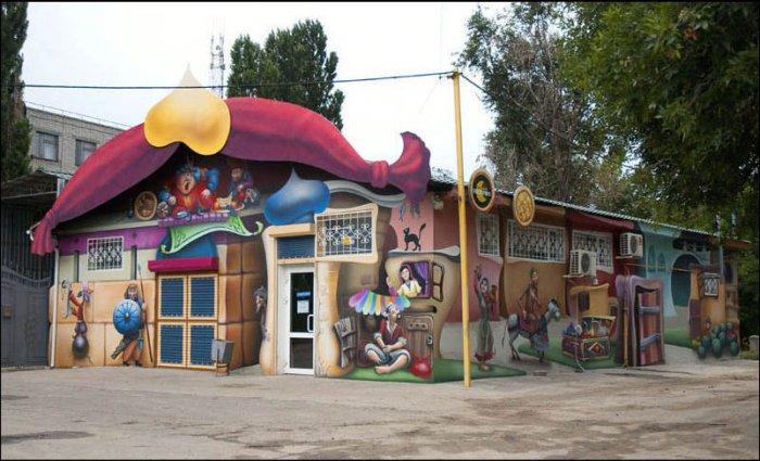 Классная раскраска зданий (15 фото)