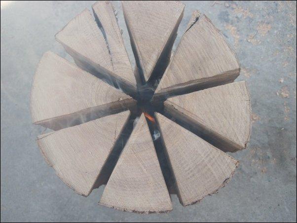 Печка из полена (12 фото)