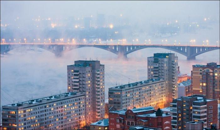 Зимний Красноярск с высоты (50 фото)