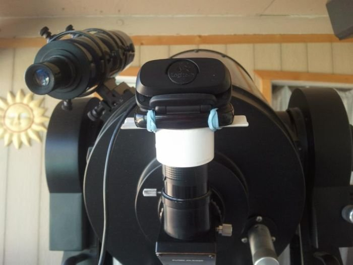 Вебкамера и телескоп (7 фото)