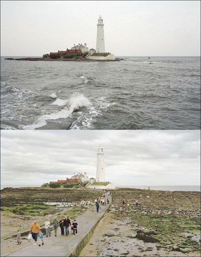 Прилив и отлив (27 фото)
