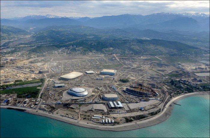Строительство олимпийских объектов в Сочи (26 фото)