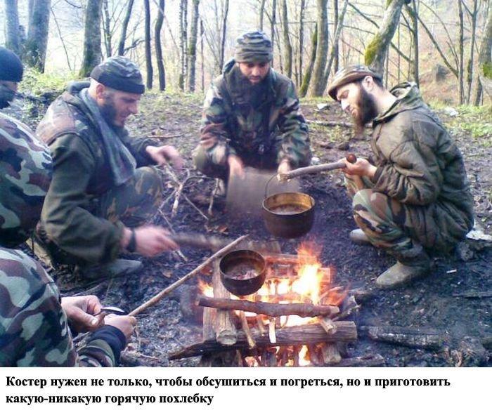 Как живут террористы в лесу (15 фото)