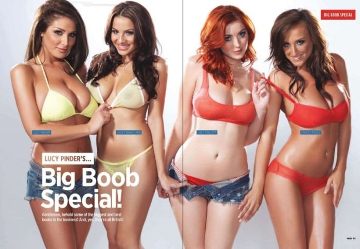 Грудастые девушки от журнала Nuts (11 фото)