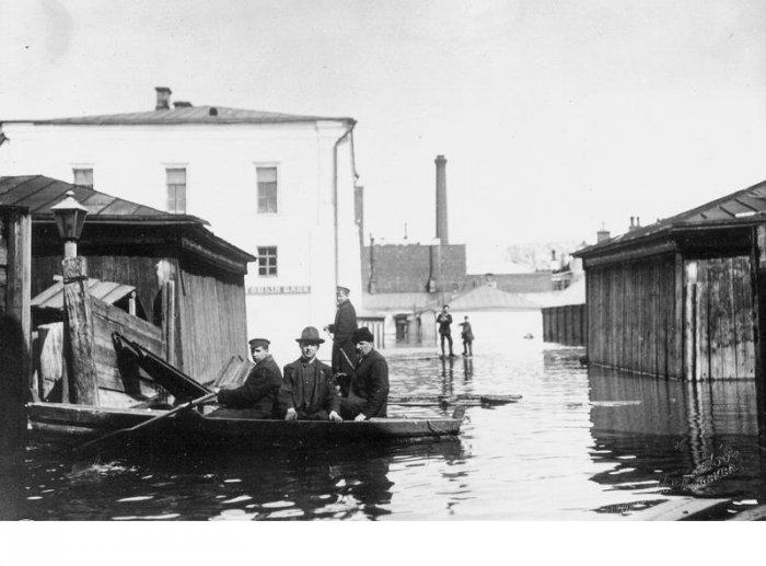 Наводнение 1908 года в Москве (19 фото)
