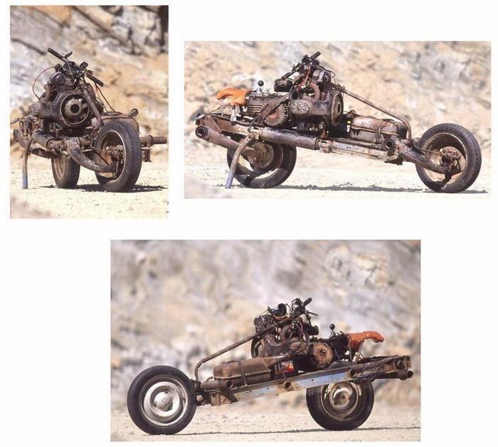 Мотоцикл из автомобиля (6 фото)
