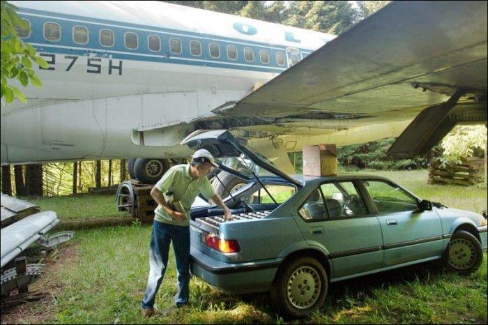 Дом в самолете (11 фото)