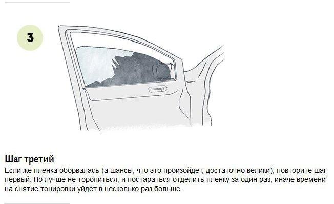 Как удалить тонировку со стекол автомобиля (7 фото)