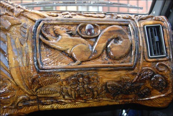 Панель из дерева в девятке (10 фото)