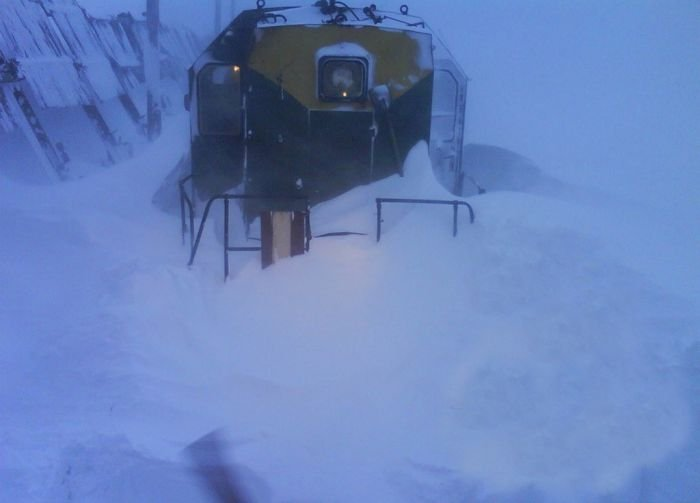 Норильск после хорошего снегопада (44 фото)