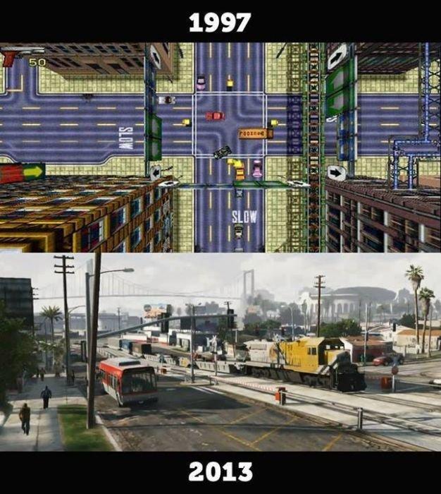 Игры раньше и сейчас (10 фото)