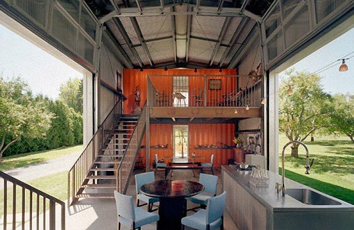 Дома из контейнеров (22 фото)