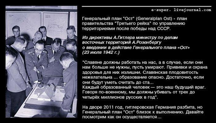 План фашистов Ост в наше время (10 фото)