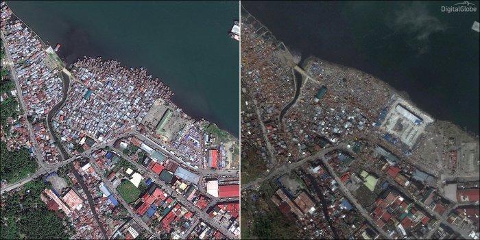 До и после тайфуна Хайян (7 фото)
