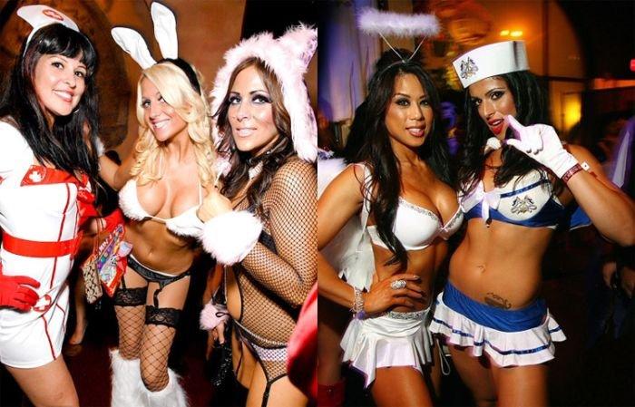 Девушки с вечеринок Хеллоуина (39 фото)