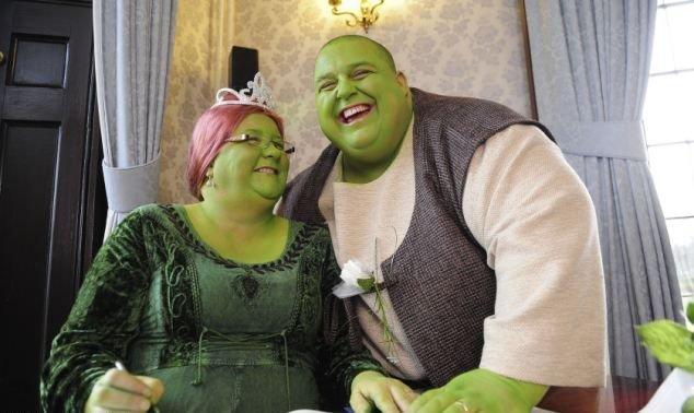 Свадьба в стиле Шрека (5 фото)