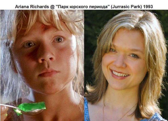 Дети в старых фильмах тогда и сейчас (10 фото)