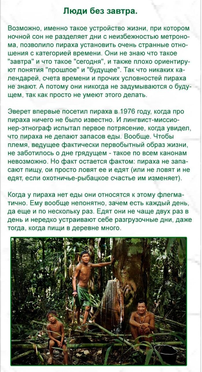 Про индейцев племени Пираха (7 фото)