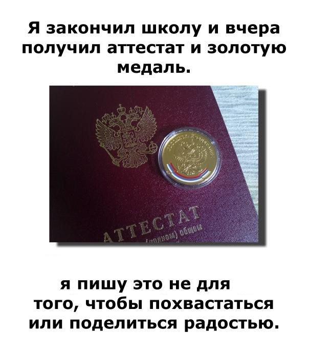 Школьная золотая медаль (3 фото)