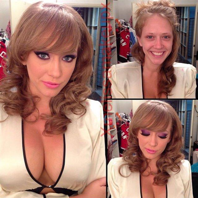 Звезды порно до и после макияжа (26 фото)