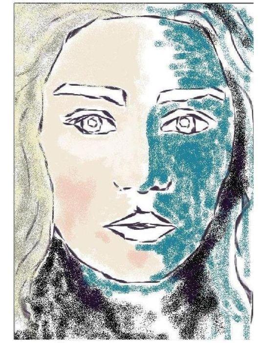 Портрет, сделанный в редакторе Paint (9 фото)