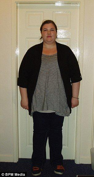 Девушка серьезно похудела (7 фото)