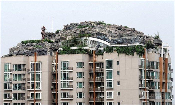 Вилла на крыше дома (10 фото)
