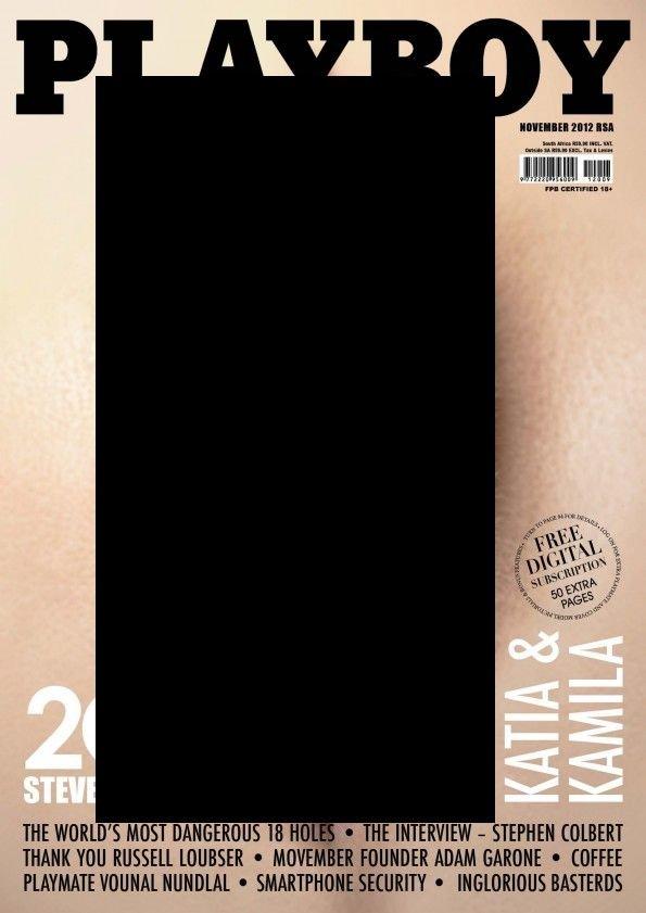 Необычная обложка журнала Playboy (1 фото)