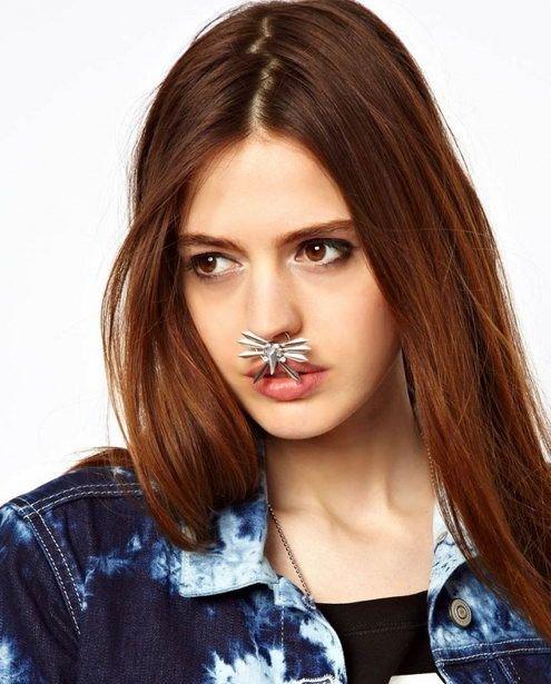 Кольцо в носу - новый тренд (5 фото)