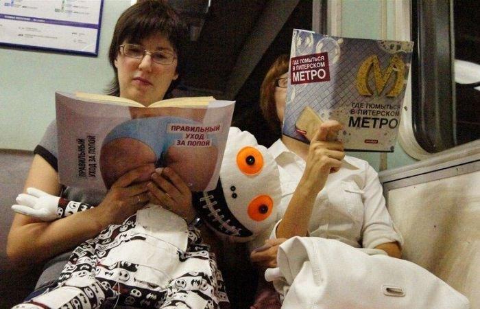 Люди в метро (73 фото)