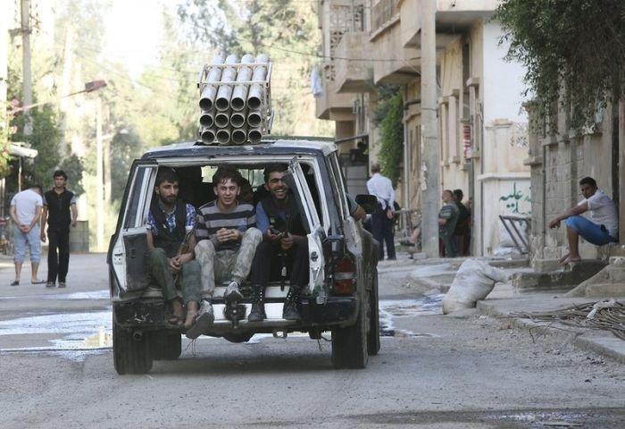 Самодельное оружие в сирийском конфликте (21 фото)