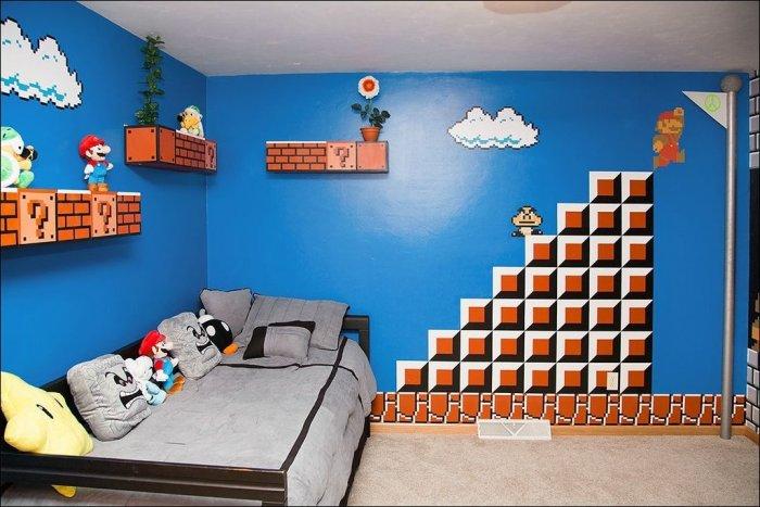 Детская в стиле Супер Марио (4 фото)