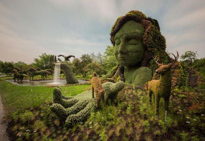 Фестиваль цветочных скульптур (30 фото)