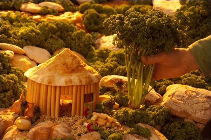 Пейзажи из еды (29 фото)
