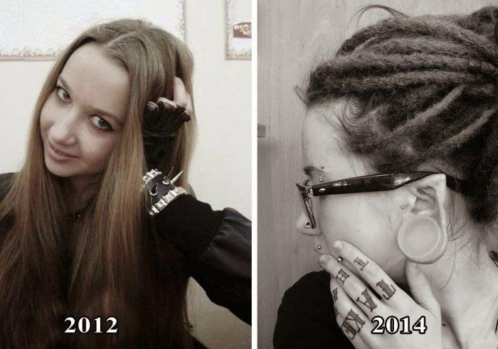 Как изменилась одна девушка (22 фото)