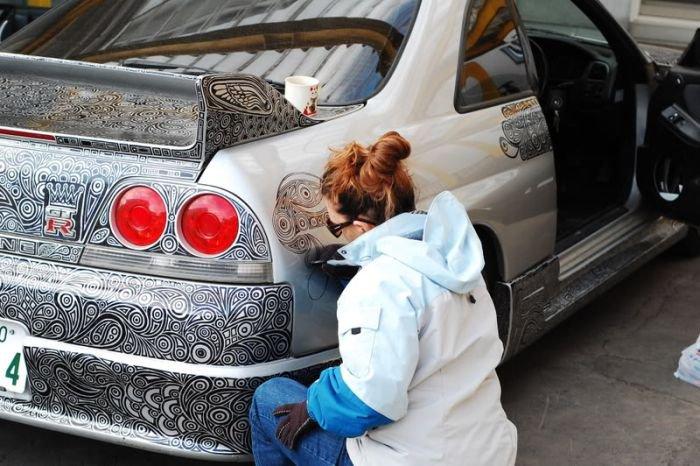 Необычная раскраска автомобиля (14 фото)