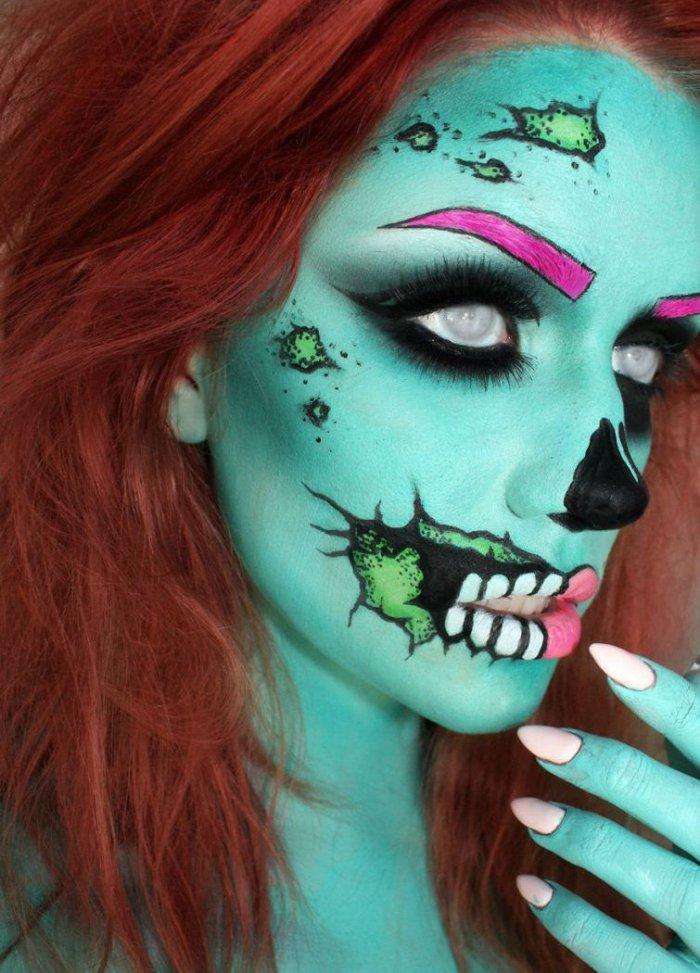 Страшный макияж на девушках (30 фото)