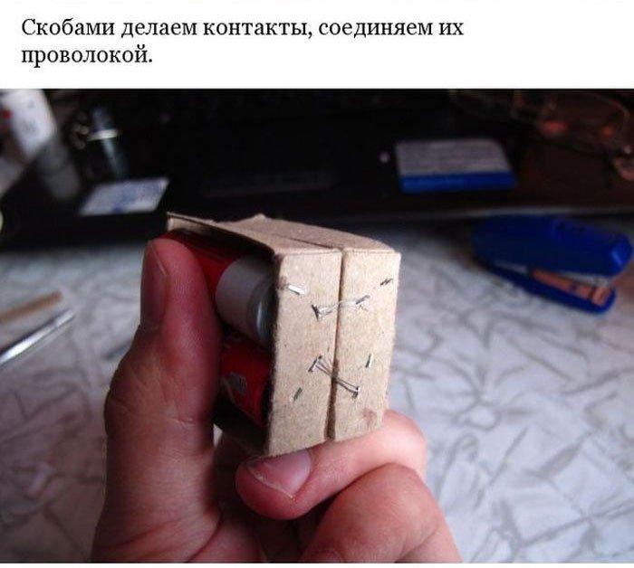 Делаем портативную зарядку для телефона (9 фото)
